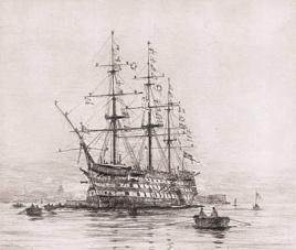 HMS VICTORY ON TRAFALGAR DAY