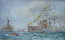 French Courbet Class and British Orion Class dreadnoughts, Spithead 1913