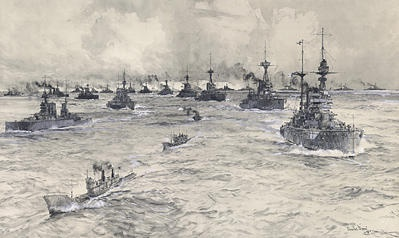 FLEET REVIEW 1919  A POST WW1 ASSEMBLY IN THE THAMES.