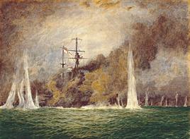 HMS WARSPITE IN TROUBLE AT WINDY CORNER, JUTLAND,