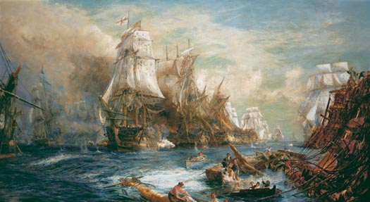 THE BATTLE OF TRAFALGAR  2.30 PM