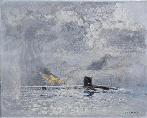 A NUCLEAR SUBMARINE (SSN) OFF HOLY ISLAND