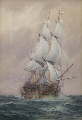 HMS VICTORY AT SEA