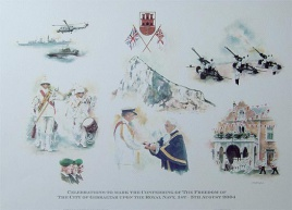 GIBRALTAR - CELEBRATIONS TO MARK THE FREEDOM OF TH