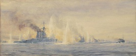 HMS TIGER AND BATTLE CRUISERS AT WINDY CORNER, 31S