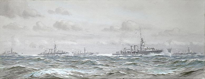HMS DELHI , HMS DAUNTLES, HMS DANAE, HMS DRAGON an