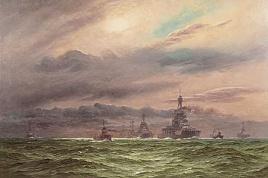 HMS IRON DUKE, HMS BELLEROPHON, HMS TEMERAIRE, HMS