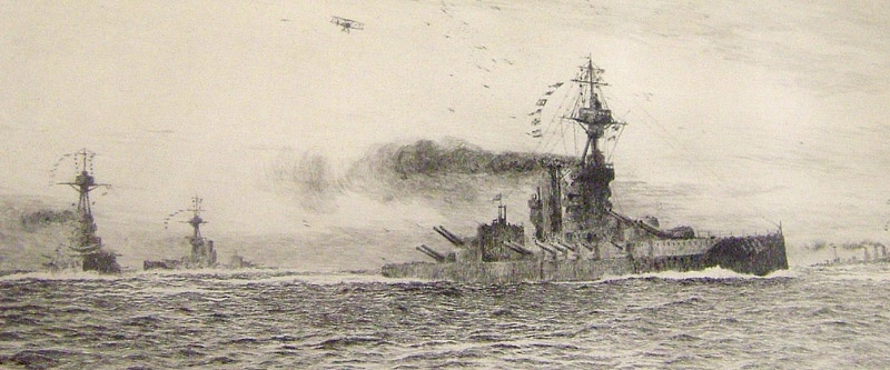 DREADNOUGHTS OF THE IRON DUKE CLASS AT SEA